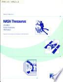 Nasa Thesaurus Book PDF