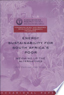 Energy Sustainability for South Africa s Poor