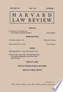 Harvard Law Review Volume 130 Number 7 May 2017