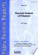 Thermal Analysis Of Polymers Book PDF