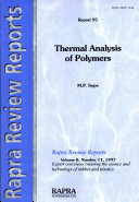 Thermal Analysis of Polymers
