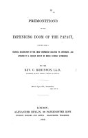 Pdf Premonitions of the impending doom of the Papacy