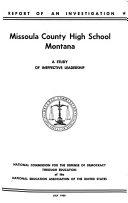 Missoula County High School Montana Book PDF