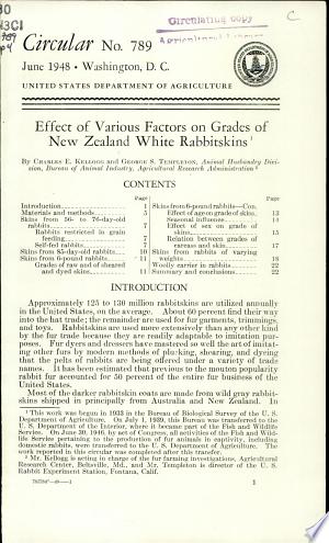 Download Effect of Various Factors on Grades of New Zealand White Rabbitskins PDF
