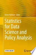 Statistics for Data Science and Policy Analysis