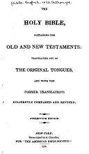 Pdf The Holy Bible, Containing the Old and New Testaments