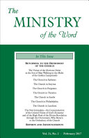 The Ministry of the Word, Vol. 21, No. 2