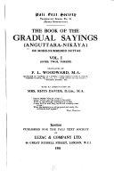 The Book Of The Gradual Sayings