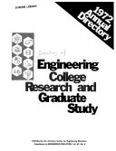 Annual Directory Of Engineering College Research And Graduate Study