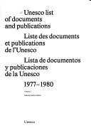Unesco List of Documents and Publications Book