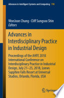 Advances in Interdisciplinary Practice in Industrial Design