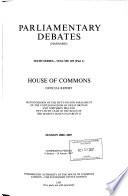 Parliamentary Debates (Hansard).