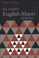 Pdf The Complete English–Maori Dictionary