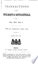 Transactions Of The Royal Society Of South Australia