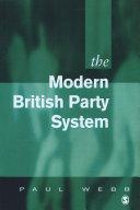 The Modern British Party System [Pdf/ePub] eBook