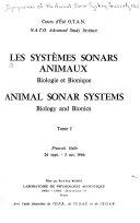 Animal sonar systems