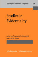 Studies in Evidentiality