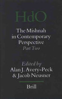 The Mishnah in Contemporary Perspective