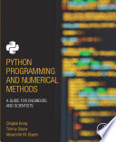 Python Programming and Numerical Methods