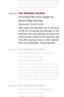 Pdf The Missing Course