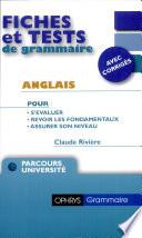 Fiches et tests de grammaire Anglais