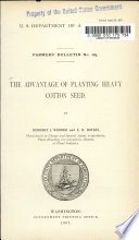 The Advantage of Planting Heavy Cotton Seed Book