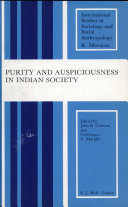 Pdf Purity and Auspiciousness in Indian Society