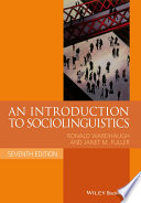 An introduction to sociolinguistics.