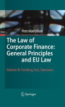 Pdf The Law of Corporate Finance: General Principles and EU Law Telecharger