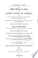 The    Public Statutes at Large of the United States of America     Ed  by Richard Peters Book
