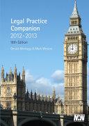 Legal Practice Companion  2012 2013 Book