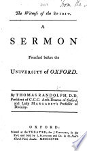 The Witness of the Spirit  A Sermon  on Rom  Viii  16  Preached Before the University  Etc