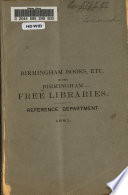 Birmingham Books Etc In The Free Libraries