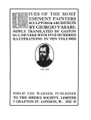 Lives of the Most Eminent Painters  Sculptors   Architects