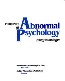 Principles of Abnormal Psychology Book PDF