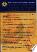 Journal of International Commerce   Economics