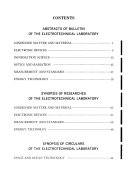 Summaries of Reports of the Electrotechnical Laboratory Book