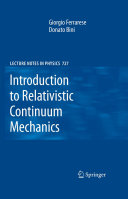 Introduction to Relativistic Continuum Mechanics