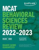 Mcat Behavioral Sciences Review 2022 2023