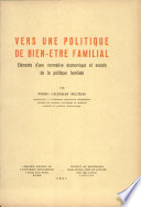 Vers une politique de bien-être familial