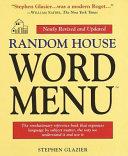 Random House Word Menu