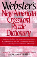 Webster s New American Crossword Puzzle Dictionary