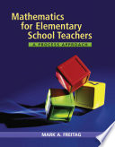 Mathematics for Elementary School Teachers  A Process Approach