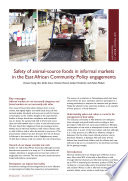 Safety of animal-source foods in informal markets in the East African Community: Policy engagements