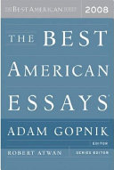 The Best American Essays 2008 Book