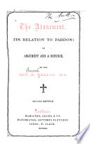 The Atonement  Its Relation to Pardon Book
