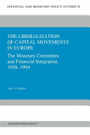 Pdf The Liberalization of Capital Movements in Europe Telecharger