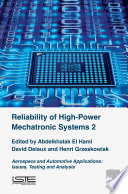 Reliability Of High Power Mechatronic Systems 2 Book PDF