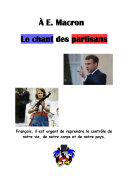 Pdf À E. Macron. Le chant des partisans Telecharger