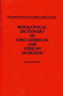 Biographical Dictionary Of Afro American And African Musicians PDF